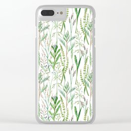 herbal pattern Clear iPhone Case
