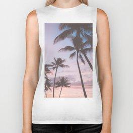 Pastel Palm Trees Biker Tank