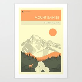 MOUNT RAINIER NATIONAL PARK POSTER Art Print