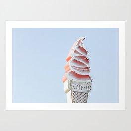 Ice Cream Retro Sign Art Print