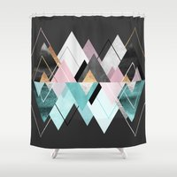 nordic Shower Curtains featuring Nordic Seasons by Elisabeth Fredriksson