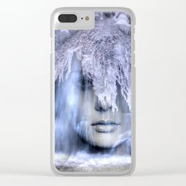 Iceberg girl Clear iPhone Case