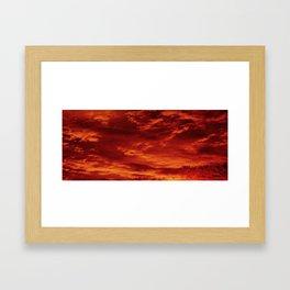 Inferno Skies Framed Art Print