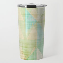 neon art, geometric print, modern painting, mid century art, abstract art, modern art Travel Mug