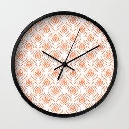 Indigo & Papaya Pattern 14 Wall Clock