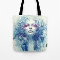 oil Tote Bags featuring Oil by Anna Dittmann