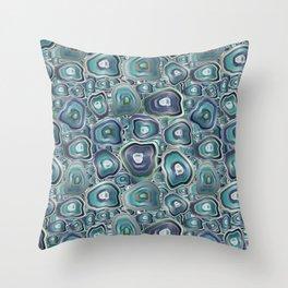 agate mosaic Throw Pillow