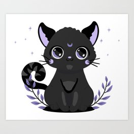 Black Magic Cat Art Print
