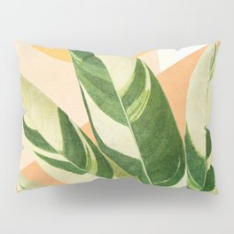 Summer Banana Leaves Pillow Sham