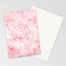 Queen Starring of Mandalas-Rose Stationery Cards