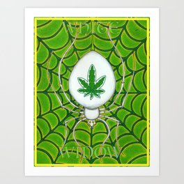White Widow Art Print