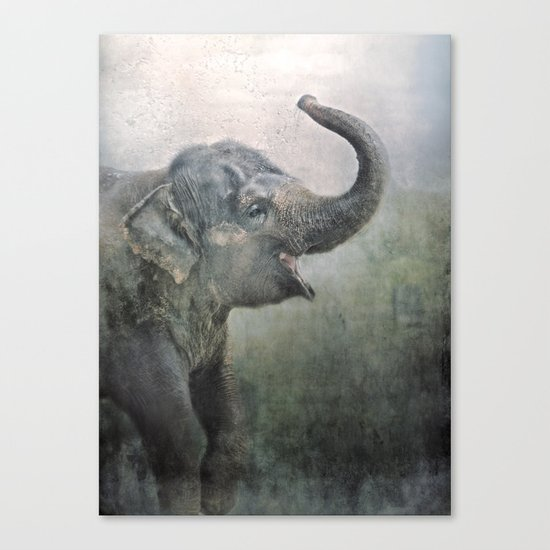 Happy Elephant! Canvas Print