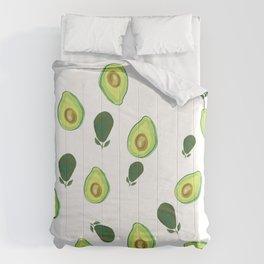 Cute avocado print wall art, phone case, home decor Comforters