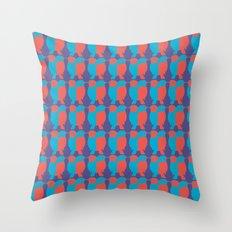 BLUE/RED BIRDS  Throw Pillow