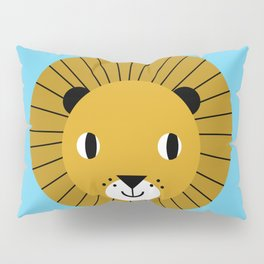 Lion face cute decor for kids boys and girls nursery kids room Pillow Sham