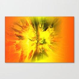 Blazing Yellow Abstract Canvas Print