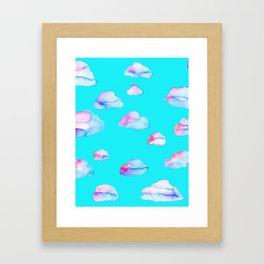 Watercolor Clouds Framed Art Print