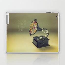 put some flowers in your guns Laptop & iPad Skin