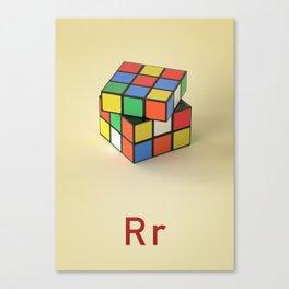 R Rubiks cube Canvas Print