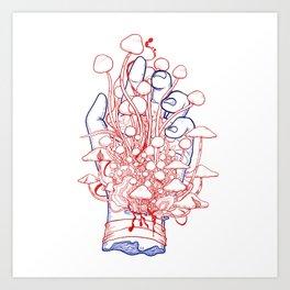 fungal parasites blood Art Print