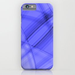Angular strokes with ultramarine diagonal lines from intersecting bright stripes of light. iPhone Case