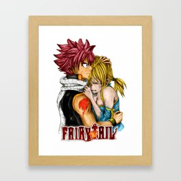 NATSU AND LUCY - FAIRY TAIL Framed Art Print