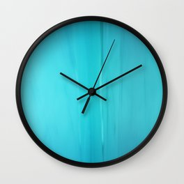 Abstract Turquoise Wall Clock