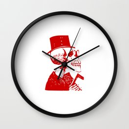 Skeleton in a Top Hat Wall Clock