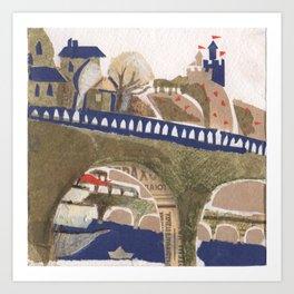 Medieval town - 3 Art Print