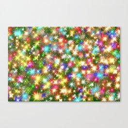 Star colorful christmas abstract Canvas Print