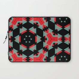 Red Grey Black Triangle Pattern Laptop Sleeve