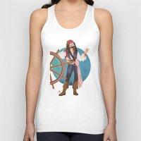 jack sparrow Tank Tops featuring Captain Jack Sparrow by Lili's Damn Fine Shop