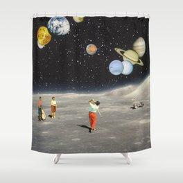 Cosmic Golf Shower Curtain