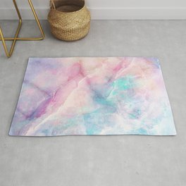 Iridescent marble Rug