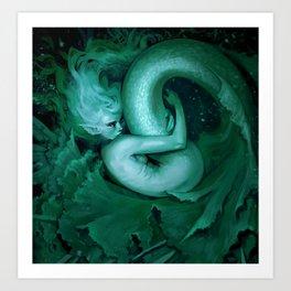 Lettuce mermaid - Light green Art Print