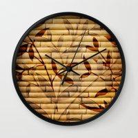 bamboo Wall Clocks featuring Bamboo by Robin Curtiss
