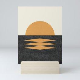 Sunset Geometric Midcentury style Mini Art Print