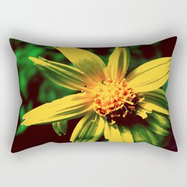 Vintage Yellow Flower Rectangular Pillow