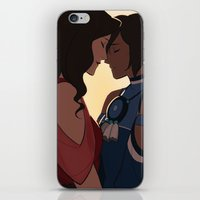 korrasami iPhone & iPod Skins featuring Korrasami is Canon by Blue