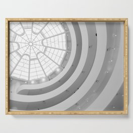 Guggenheim Interior | Frank Lloyd Wright Architect Serving Tray