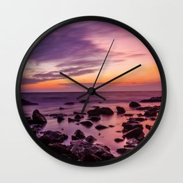Waterscape with Sunset Wall Clock