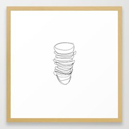 Stack Framed Art Print