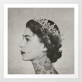 tattoo #queen #vintage Art Print
