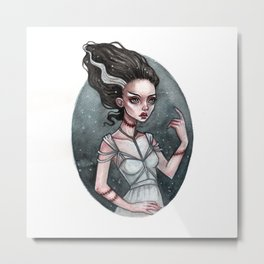 The Bride of Frankenstein Metal Print