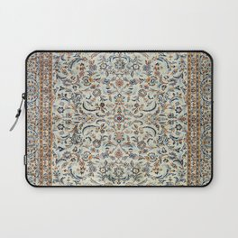 Central Persia Old Century Authentic Colorful Muted Dusty Cream Grey Vintage Rug Pattern Laptop Sleeve