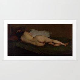 Nude reclining by Hugh Ramsay Art Print