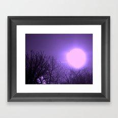 amethyst sky Framed Art Print