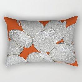 WHITE TULIPS Rectangular Pillow