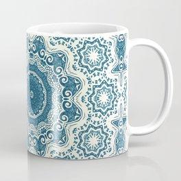 Creamy and blue mandala pattern Coffee Mug