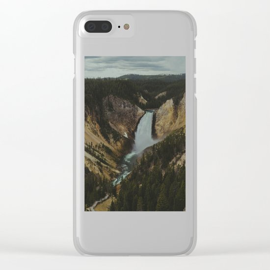 Yellowstone National Park Falls Clear iPhone Case